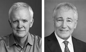 Senators Bob Kerrey and Chuck Hagel